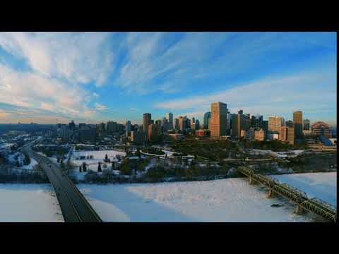 Downtown Edmonton Drone Video