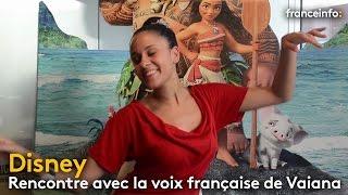 """Disney : rencontre avec Cerise Calixte, la voix française de """"Vaiana"""" - franceinfo:"""