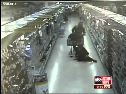 Fake slip and fall caught on video