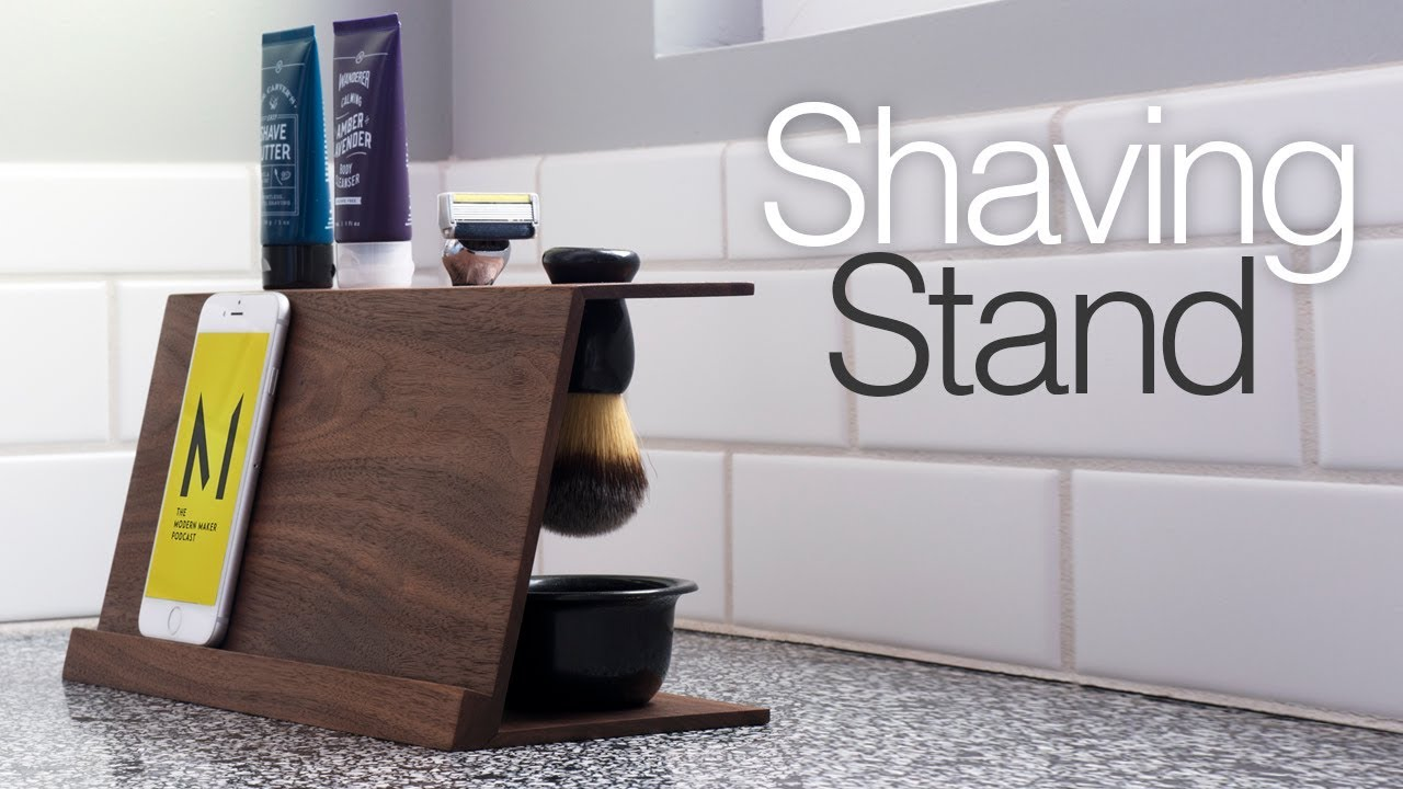 Simple Diy Shaving Stand Easy Woodworking Projects Youtube