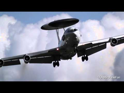 NATO Boeing E-3A Sentry (AWACS) amazing approach & landing at NATO Air Base Geilenkirchen (HD)