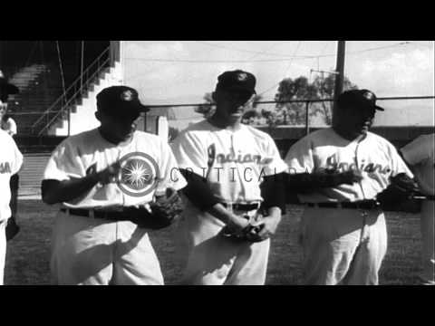 The Players Of Milwaukee Braves And Cleveland Indians Practice In Bradenton, Flor...HD Stock Footage