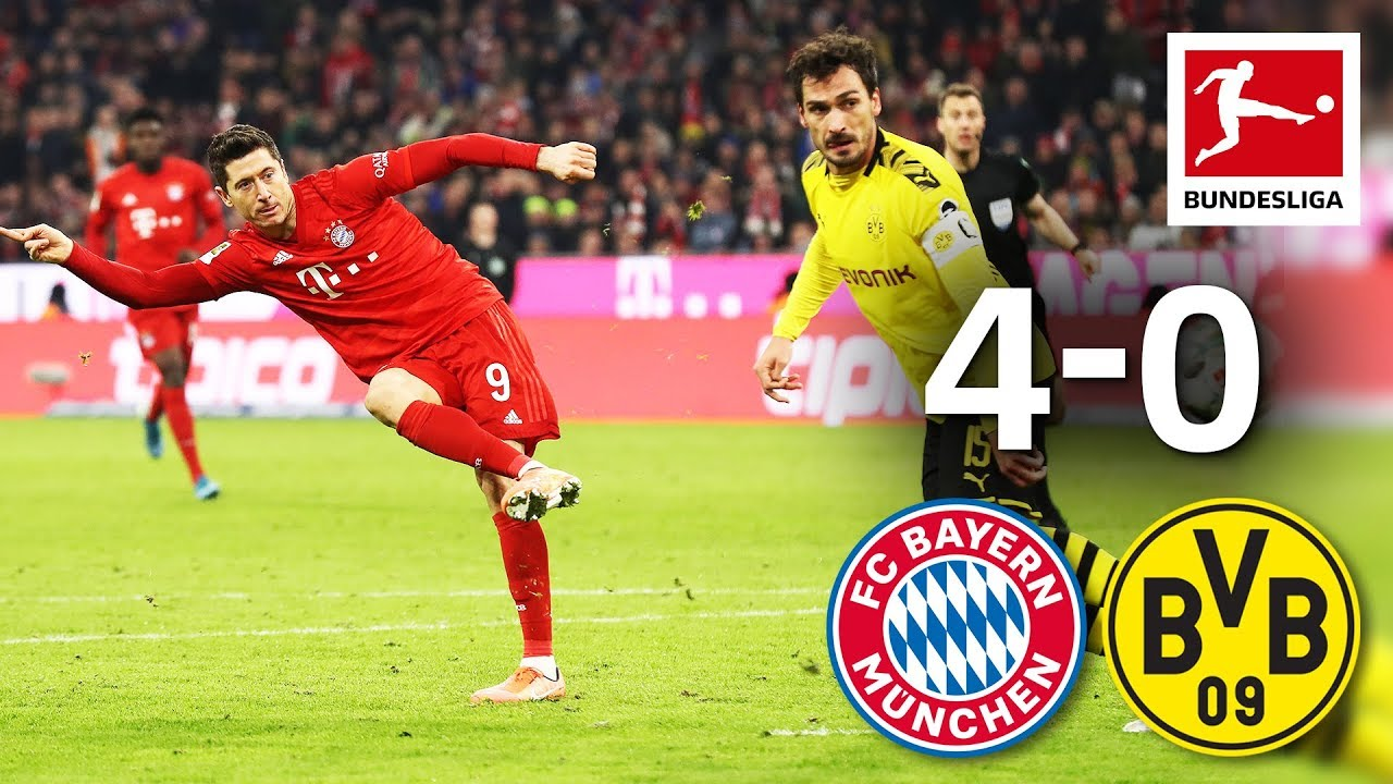 Download FC Bayern München vs. Borussia Dortmund I 4-0 I Der Klassiker - Highlights Worldwide Commentary