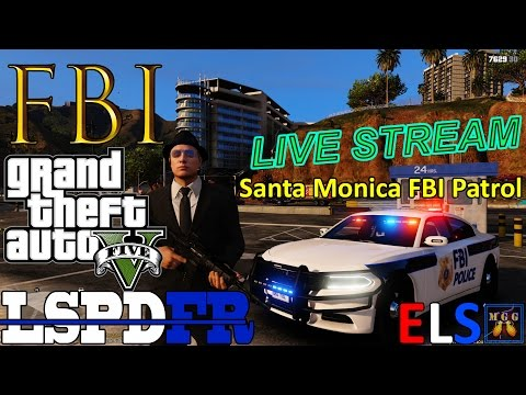 Real-Time Santa Monica FBI Agent Patrol GTA 5 LSPDFR Live Stream 65
