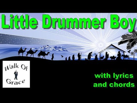 Little Drummer Boy - Christmas song with Lyrics and Chords