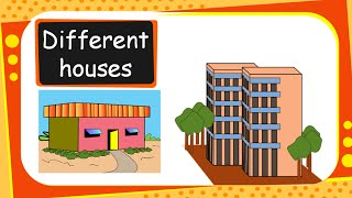 Science - Different Types of Houses and Building Materials  - English