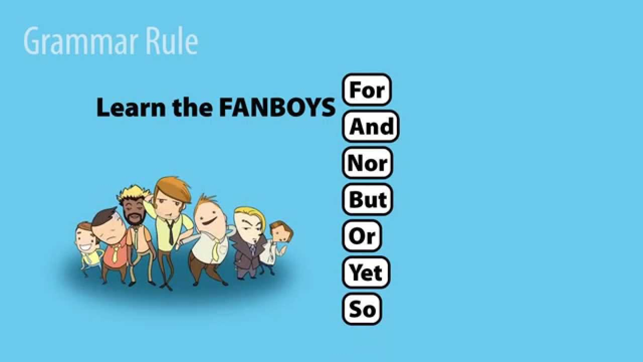 FANBOYS: Coordinating Conjunctions - YouTube