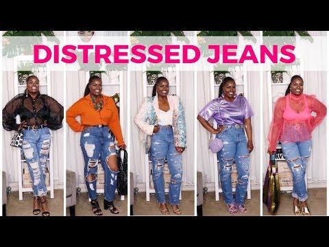 DISTRESSED JEANS 10+ WAYS