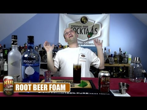 Root Beer Foam Cocktail, How-To