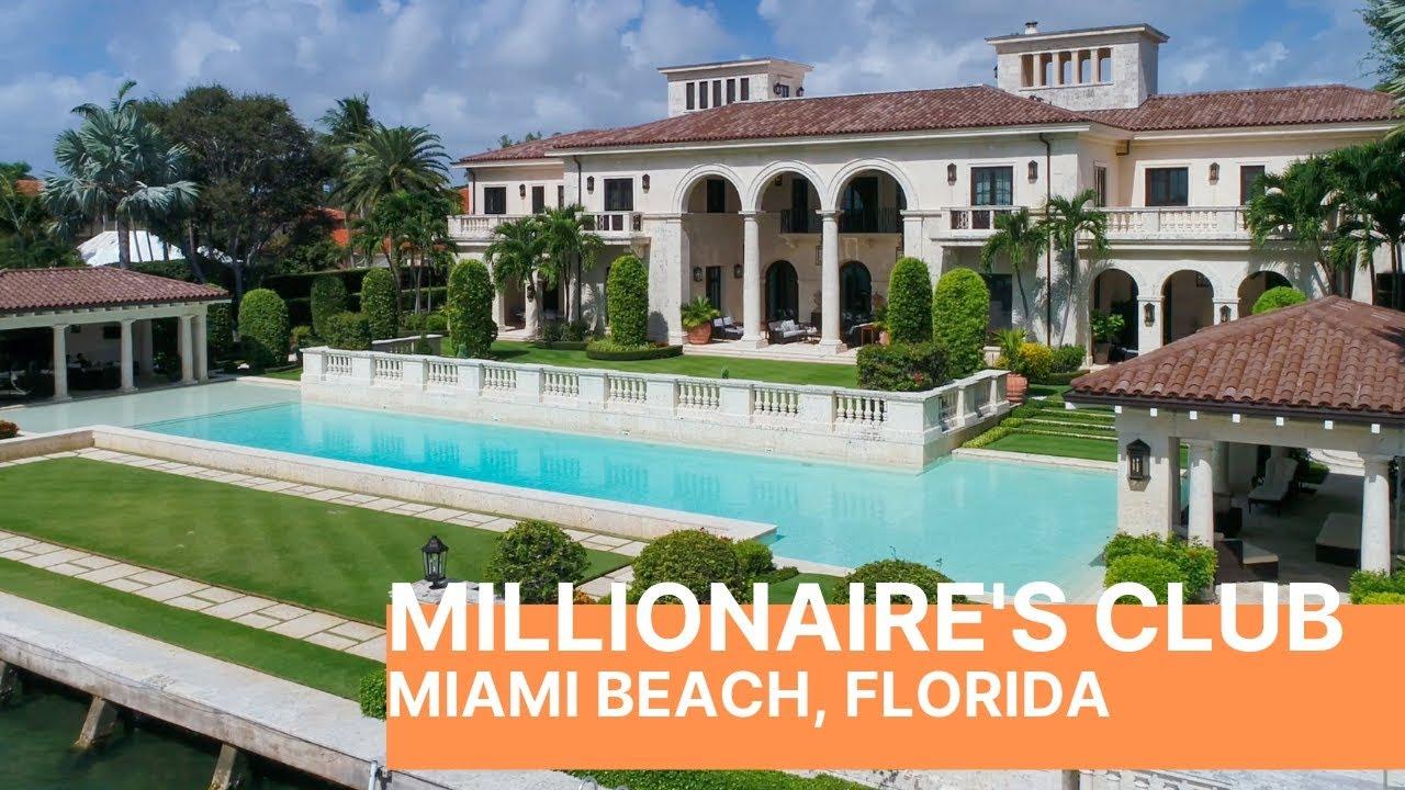 Miami Beach Millionaire S Club Tour Breathtaking Mansions Youtube