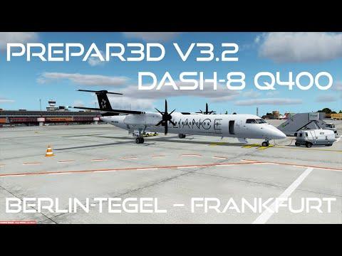 [Prepar3D v3.2/IVAO] Tegel (EDDT) - Frankfurt (EDDF) | Dash-8 Q400 | DLH193
