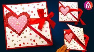 How to make - DIY valentine cards | Handmade love card making ideas