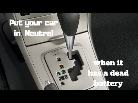 How to put your car in neutral without a key or a dead battery