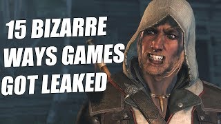 15 BIZARRE Ways Video Games Got Leaked Which Made Us Go WHAT?!