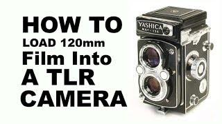 load 120mm film into a tlr camera