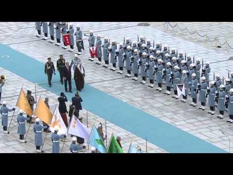 Suudi Arabistan Kralı Selman Cumhurbaşkanlığı Külliyesi'nde