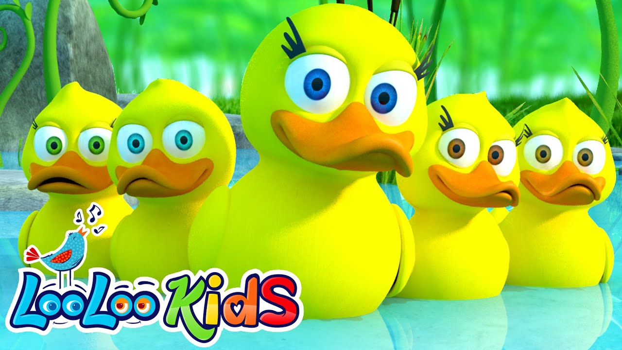 Five Little Ducks  THE BEST Song for Children  LooLoo Kids  YouTube