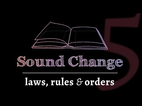 Sound Change - Phonological Rules, Rule Orders & Relative Chronology (part 5 of 5)