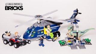 Lego Jurassic World 75928 Blues Helicopter Pursuit Lego Speed Build