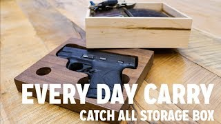 In this video I build a catch all box for my everyday carry. I use simple woodworking, and create a hidden compartment in the bottom