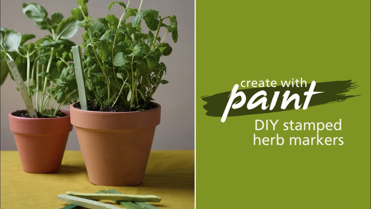 Habitat TV Video: Make your own painted clay herb markers