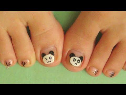 Nail Art For Beginners – Vẽ Móng Chân Đẹp Kiểu Gấu Trúc Panda | Yêu Làm Đẹp