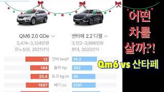 어떤차를 살까 르노삼성 QM6 vs 현대자동차 산타페