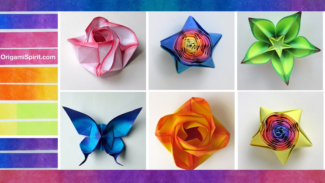 Papercraft How to Color Paper for Origami : : Coloreado de papel