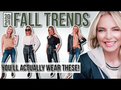 6 of the MOST Wearable Fall 2021 Fashion Trends for Women Over 40+ HOW to Style - Видео онлайн