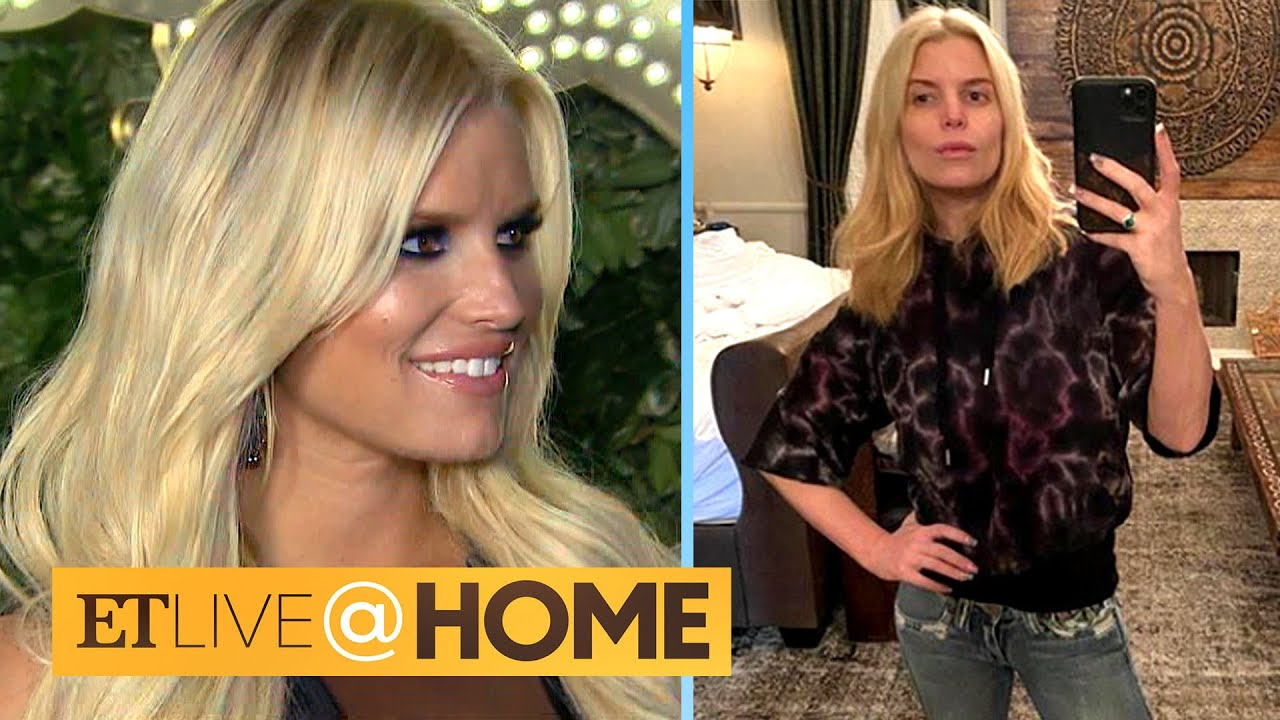 Jessica Simpson Rocks 14-Year-Old Jeans to Celebrate Turning 40! | ET Live @ Home