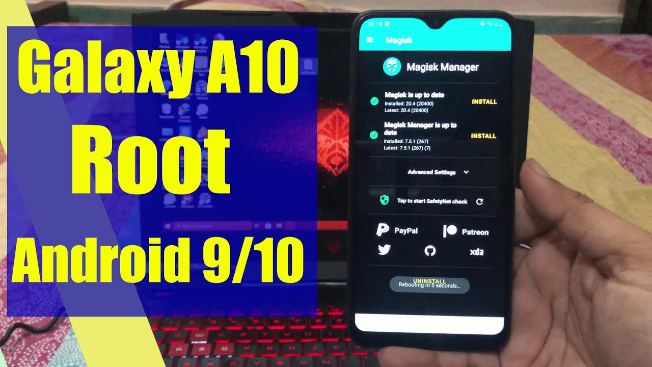 Galaxy A10 Root Android 9 And 10 Version Youtube