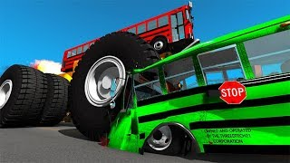 Beamng drive - Belaz 75710 Heavy Car Destruction & Crashes