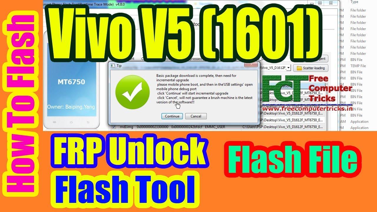 How To Flash Vivo V5 1601? FRP Unlock | Flash Tool | Flash File