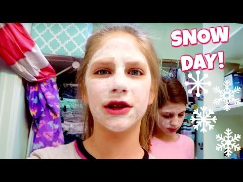 Rare Snow Day Sleepover with Annie Rose! Fun Things to Do With Friends!