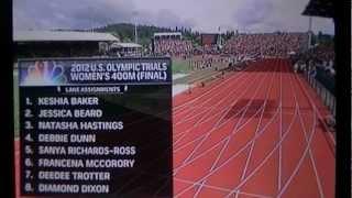 2012 U.S. Olympic trials Women 400m FINAL