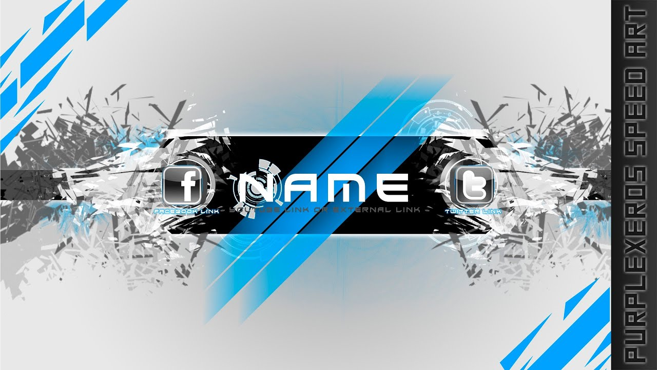 Free to use channel art template elegant shatter youtube pronofoot35fo Images