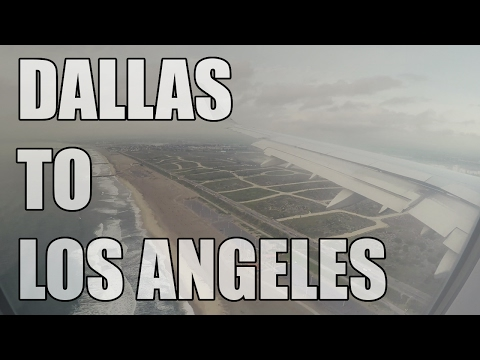 Dallas to Los Angeles - American Airlines Airbus A321 FULL FLIGHT | GoPro