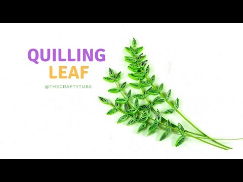 Quilling Leaf - Paper Quilling Design - How To Make Quilling Flower Card - TheCrafty Tube - DIY