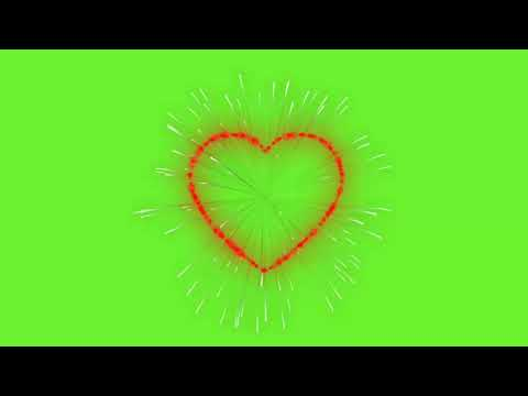 Heart Zoom Green Screen Video