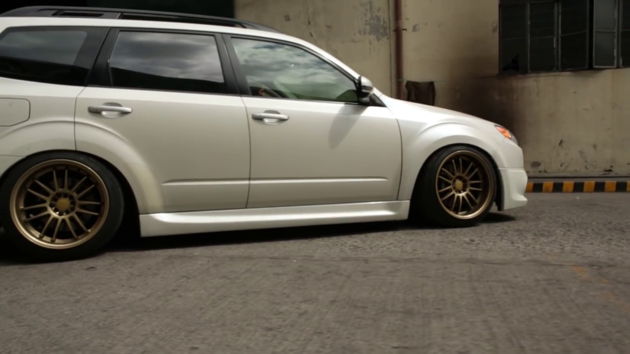 Custom Subaru Outback >> Subaru Forester on AirRex and Accuair Air Suspension - YouTube