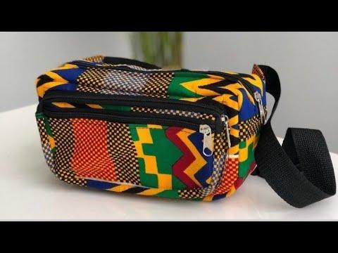 waist bag -how to sew beautiful Ankara bag