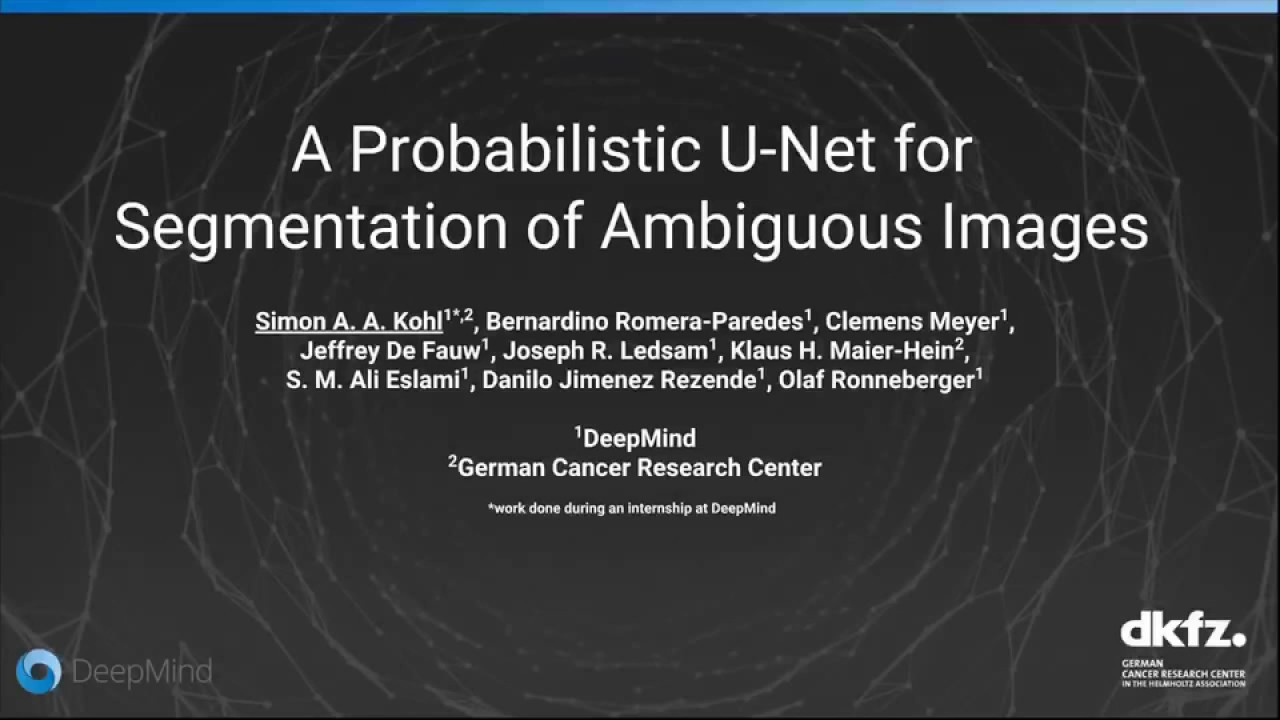Papers With Code : A Probabilistic U-Net for Segmentation of
