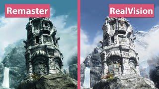 Skyrim – Special Edition Remaster vs. RealVision ENB Mod Collection Trailer Graphics Comparison