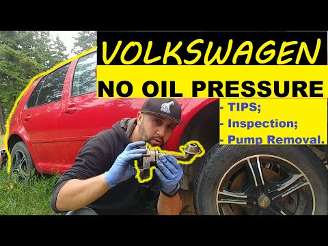 VOLKSWAGEN NO OIL PRESSURE. Tips, Inspection, Oil Pump Removal. Golf Jetta Beetle Polo
