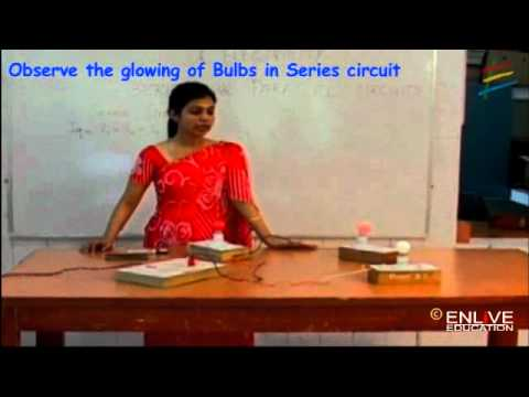 Download Observe the glowing of Bulbs in Series circuit