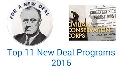 Top 11 New Deal Programs