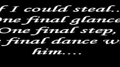 Dance with my father again- Celine Dion Lyrics