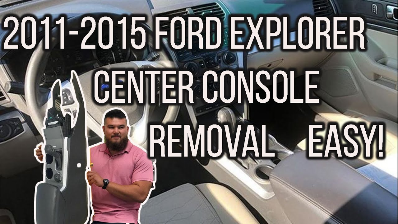 2017 Ford Explorer Center Console Removal