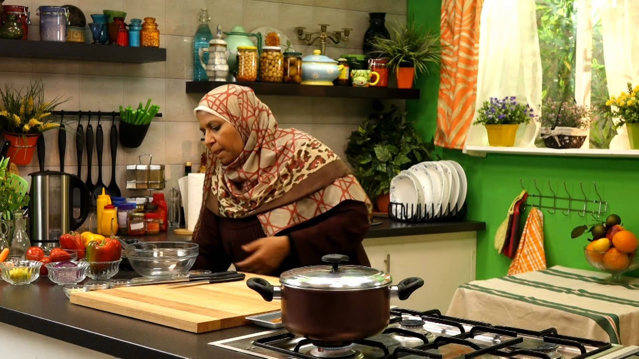 باذنجان مكمور + سلطه باذنجان مشوى - مطبخ ست البيت - أبله منال - الحلقه السابعه عشر