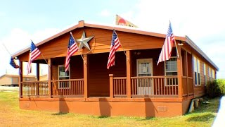 The Summer Time Cabin Rustic modular homes in San Antonio TX
